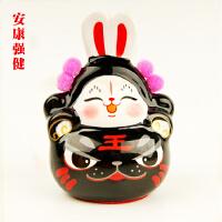 兔爷儿北京手工陶瓷Q版小兔儿爷中国风出国礼物节日特色礼品