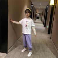 女童套装春装新款儿童早春秋运动时尚时髦两件套