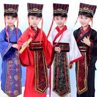儿童古装汉服男 古代 学生 中国风国学服装幼儿孔子大臣演出服