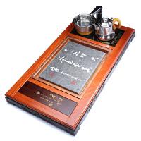 唐丰功夫茶盘套装电热磁炉一体家用乌金石茶台花梨木排水储水茶海