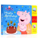 Peppa Pig佩奇生日发声书 英文原版绘本 Happy Birthday Mummy Pig Recordable
