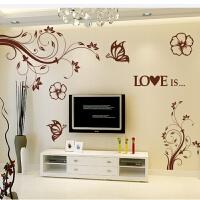 蔓藤之恋 温馨婚房电视背景墙贴纸 床头电视墙贴客厅卧室装饰贴画 超