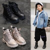 女童马丁靴加绒冬季中筒靴儿童靴子