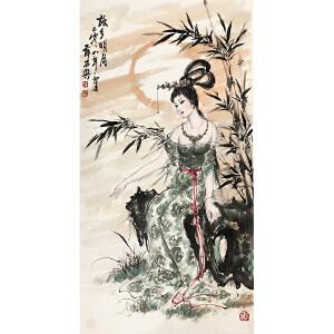 薛林兴《故乡明月》著名画家