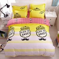 巴萨皇马米兰足球队球迷床单人床上用品四件套学生宿舍被套三件套