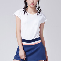 adidas阿迪达斯女子短袖T恤2018新款网球透气休闲运动服CV6338