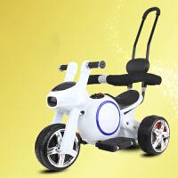 儿童电动摩托车1-3岁小孩玩具车可坐人脚踩充电的宝宝三轮车可推2