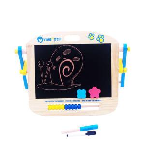 【【领券立减50元】米米智玩 艺贝便携型小型磁性桌上 儿童画板 婴幼儿写字板黑白双面磁性画板活动专属