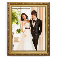 实木相框挂墙欧式7 16 24 36 48寸婚纱照相框创意摆台结婚照画框