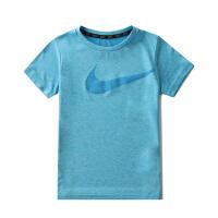 耐克(NIKE)新款儿童短袖针织衫 轻薄透气 86C153-U8M风暴蓝花纱