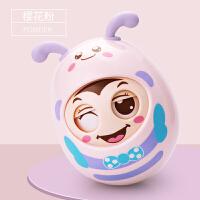 婴儿大号不倒翁3-6-12个月女宝宝音乐点头娃娃玩具0-1岁男孩早教9 会眨眼的不倒翁 樱花粉