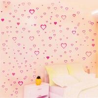 婚房卧室温馨浪漫床头墙贴装饰房间家具贴花贴画粉色爱心贴纸自粘 大