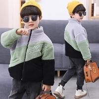 男童外套冬装童装儿童摇粒绒保暖外衣中大童百搭羊羔毛绒
