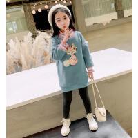 女童卫衣冬装大童洋气保暖衣儿童中长款上衣