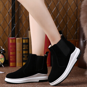 2017冬季新款短靴女雪地靴加厚加毛短筒靴子女棉鞋女保暖加绒鞋子