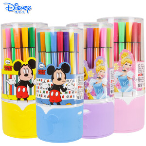 迪士尼36色儿童可水洗水彩笔筒装彩笔套装绘画涂鸦