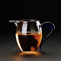 耐热玻璃公道杯 加厚公杯分茶器 过滤茶漏 茶海功夫茶具配件350ml