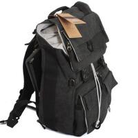 防盗摄影包佳能单反相机包 电脑包 帆布双肩背包