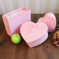 心形包装盒 韩式礼物盒桃心形节日生日礼品盒口红巧克力爱心七夕情人节礼盒