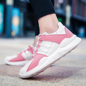 【限时特价】Q-AND/奇安达2018新款女子轻便缓震透气厚底增高运动休闲跑步鞋