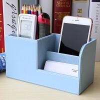 笔筒创意时尚多功能办公室收纳名片盒桌面文具用品韩国小清新学生