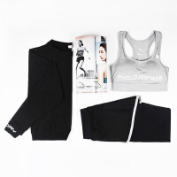 健身服女秋冬健身房显瘦运动跑步衣服宽松瑜伽服三件套装