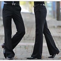 秋冬韩版喇叭裤男修身垂感直筒西裤男士免烫英伦休闲大脚裤长裤潮