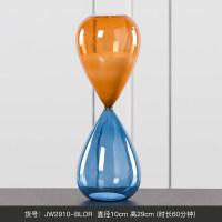 【品牌热卖】创意沙漏计时器摆件时间30分钟简约现代个性家居装饰品小摆设轻奢 蓝橙 大号60分钟