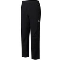 KELME卡尔美 K46C2035 男式软壳裤 加绒加厚抓绒冲锋裤 户外冬季滑雪登山裤