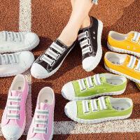 2017秋季新款一脚蹬帆布鞋女学生百搭懒人鞋韩版透气布鞋秋季板鞋