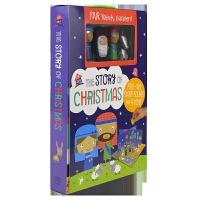 Playhouse The Story of Christmas 圣诞故事英文绘本游戏套盒 英语立体场景 附4个人物玩