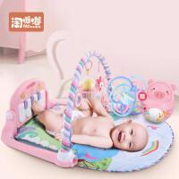新生儿宝宝音乐游戏毯玩具0-1岁3-6-12个月脚踏钢琴婴儿健身架器