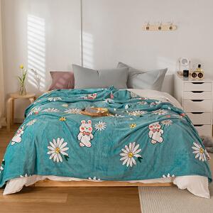 【领券立减50】毛毯加厚冬季空调毯盖毯法莱绒床单午睡毯双人毯子珊瑚绒毯