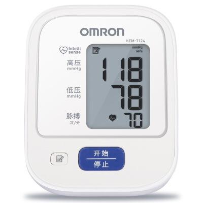 [当当自营]欧姆龙(OMRON)电子血压计 HEM-7124 送原装适配器全自动智能加压上臂式,记忆储存,一键操作