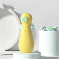 婴儿电动磨甲器宝宝指甲钳新生专用幼儿童防夹肉指甲剪刀套装 栀子黄(含4个磨头) 组合装