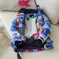 儿童立领滑雪服带发热纤维 男童女童羊羔绒