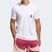 阿迪达斯夏季篮球运动短袖T恤 哈登卡通GP3427