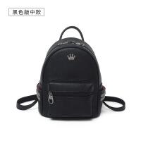 小背包女双肩包新款书包休闲包迷你包包htf 黑色版中款