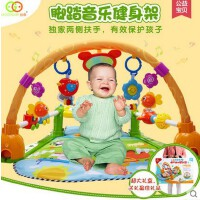 谷雨 婴儿脚踏钢琴音乐健身架器 婴幼儿玩具游戏毯婴儿玩具0-1岁