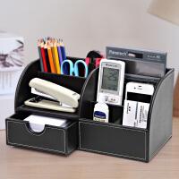 多功能笔筒创意时尚办公用品韩国小清新桌面文具收纳盒名片座摆件