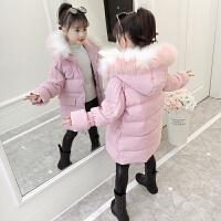 儿童2018新款冬季棉衣外套中大童韩版洋气中长款棉袄女孩
