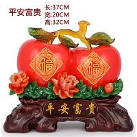 苹果桔子工艺礼品装饰摆件婚庆新房乔迁礼物客厅摆设家居饰品