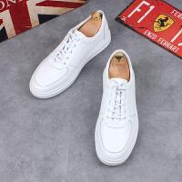 男士休闲鞋白色小白鞋夏季透气运动板鞋简约百搭黑色学生男鞋子
