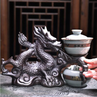 唐丰TF9147哥窑半全自动茶具品茗杯茶洗六君子盖碗公杯整套懒人泡茶套装