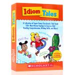 英文原版 Scholastic Idiom Tales 学乐习语故事盒 趣味教学 故事集集习语大全8册盒装 家长手册u