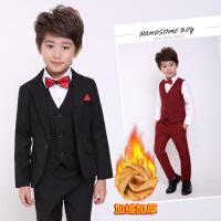 儿童男童西装套装2017新款韩版加绒英伦冬装男宝宝新年礼服小西服