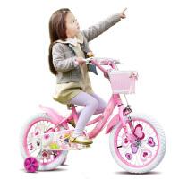 1pp儿童自行车16/14/12/18寸女孩宝宝单车2-3-6-8岁小孩女童童车