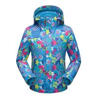 地时尚迷彩儿童冲锋衣男三合一防水保暖青少年户外运动男女童冲锋衣