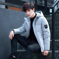 男款羽绒服短款男士冬季加厚韩版外套港味长袖大学生青年上衣 灰色 M