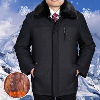 中老年男装棉衣宽松加厚保暖棉衣尼克服男毛领大码外套爸爸装棉袄 仿貂毛内胆棉衣 170 L码100-125斤
